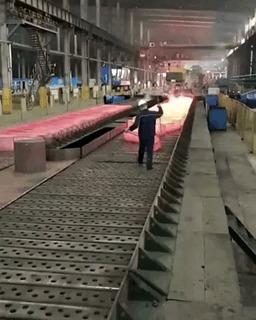 Змейка из раскалённой стали. Металл, Завод, Залипалка, Китай, Гифка
