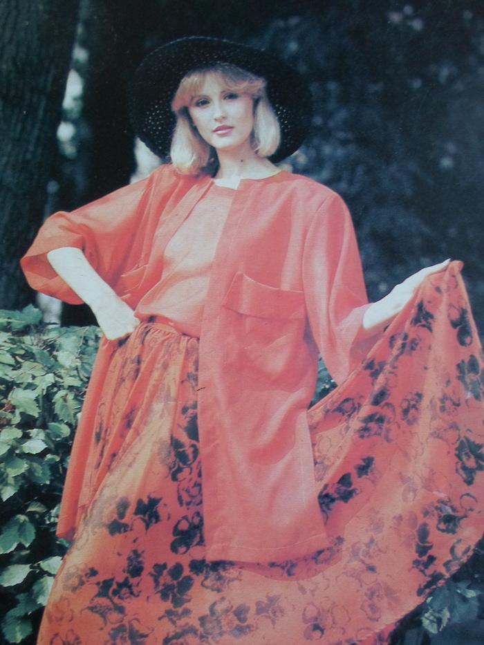 Мода 1987 СССР, Мода, Одежда, 1987, Фасон, Стиль, Модели, Длиннопост, Ретро
