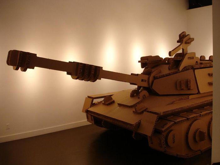 Картонный танк Картон, Танки, Крафт