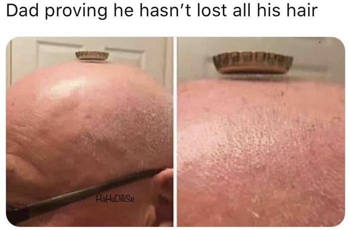 Отец доказал что он не лысый!
