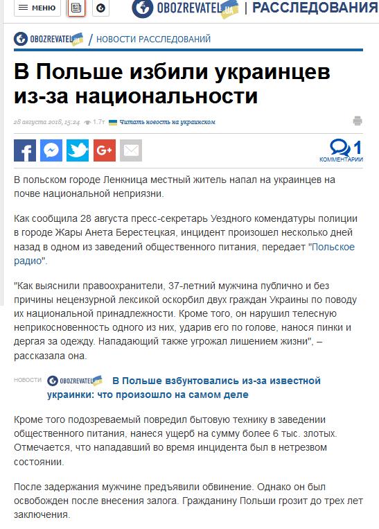 Немного о польско-украинской дружбе. Украина, Польша, Дружба, Политика, За что?