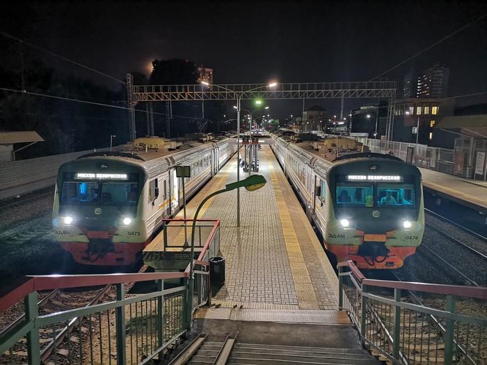 Поздний вечер на станции Одинцово.