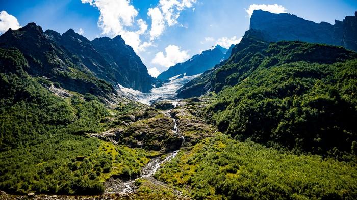Ледники Домбая Кавказ, Домбай, Ледник, Карачаево-Черкесия, Горы, Sony alpha, Длиннопост