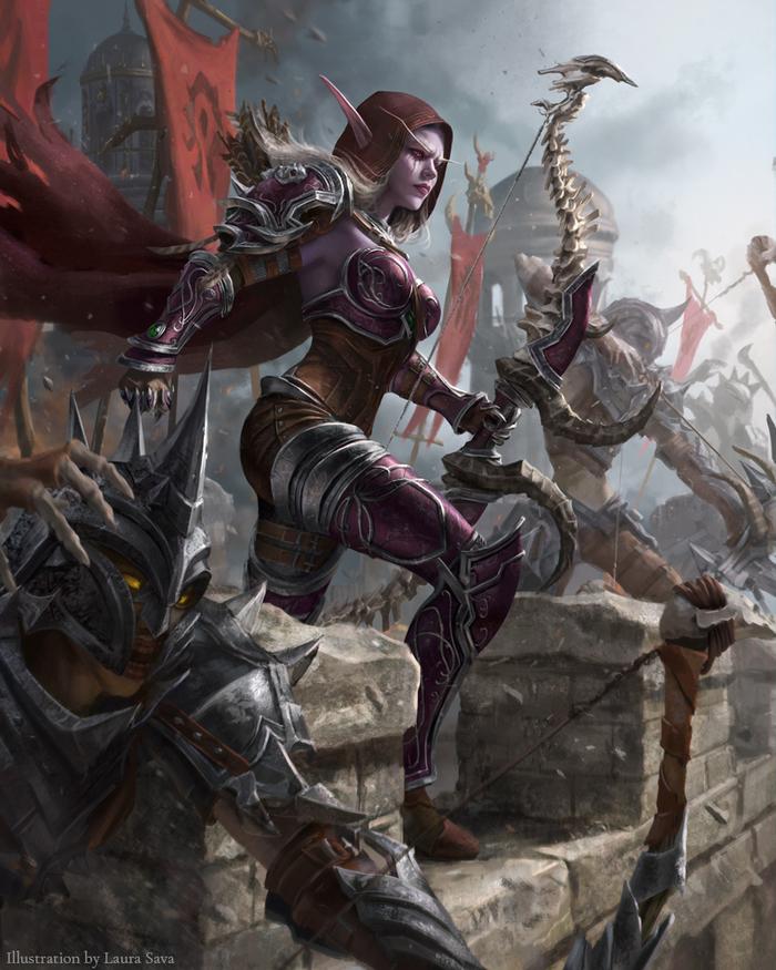 Осада Лордерона World of Warcraft, Сильвана Ветрокрылая, Орда