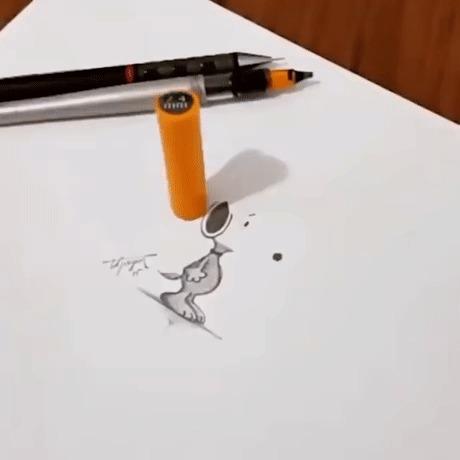 Рисунок тенью
