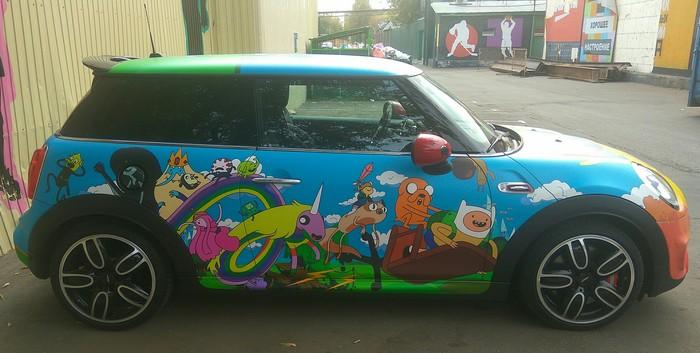 Раскраска Авто, Mini cooper