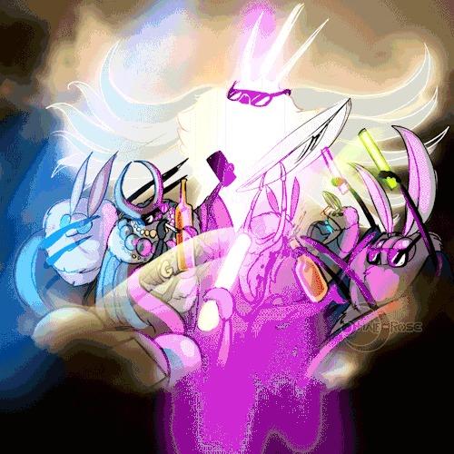 Dream Hard Hollow Knight, Radiance, Markoth, Seer, Спойлер, Гифка