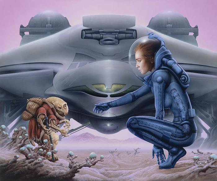 Джим Бёрнс: гений фантастической иллюстрации Фантастика, Арт, Джим бёрнс, Стальная крыса, Дюна, Живопись, Warhammer 40k, Длиннопост