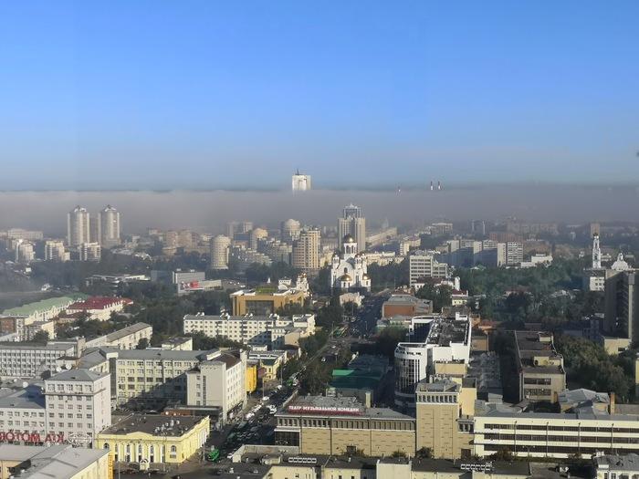 Вот такой вид на Екатеринбург был сегодня утром. Екатеринбург, Фотография, Мобильная фотография