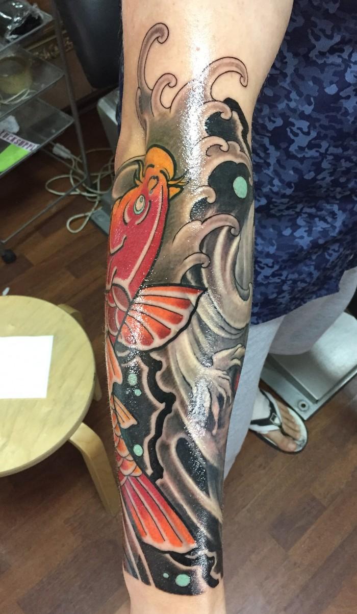 """Начало рукава в стиле """"Ориентал"""" Японская татуировка, Тату, Tattoo, Лига любителей татуировки, Длиннопост"""