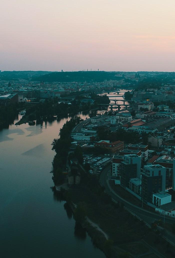 Город мостов Прага, Дрон, Фотография, Dji, DJI phantom, Мост