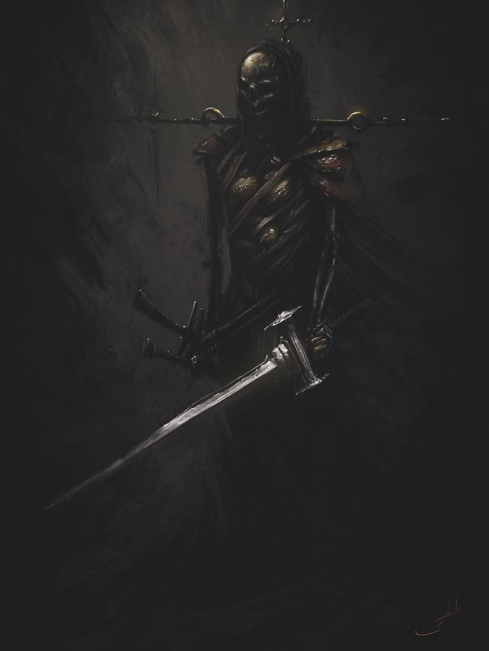 Shadow Мрачность, Тень, Призрак, Видео, Компьютерная графика, Рисунок, Цифровой рисунок, Photoshop, Воин