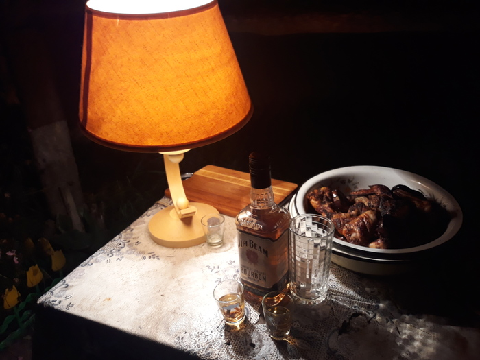 Ламповость - это состоянии души! Лампа, Осень, Шашлык, Огород, Ночь, Виски