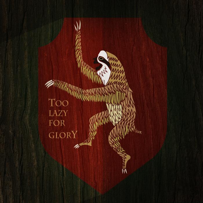 Геральдический ленивец Ленивец, Герб, Геральдика, Арт, Юмор, Лига, Лига лени