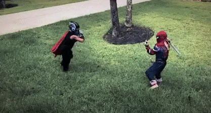 Совершенно секретные кадры из предстоящих Мстителей:Civil War 2 Дети, Тор, Спецэффекты, Человек-Паук, Гифка