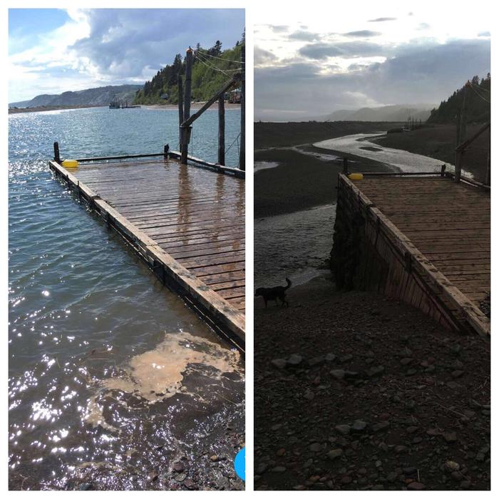 Залив Фанди славится рекордно высокими приливами Новая Шотландия, Прилив, Фотография, Канада