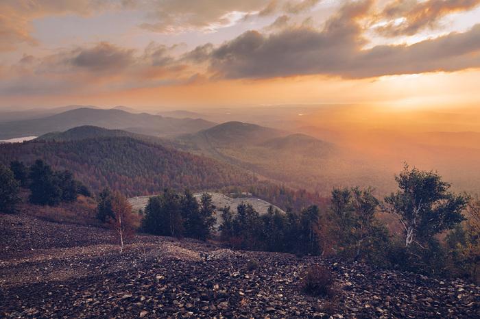 Поклонная гора, город Карабаш. Рассвет. Карабаш, Пейзаж, Рассвет, Облака, Фотография, Canon, Nikon