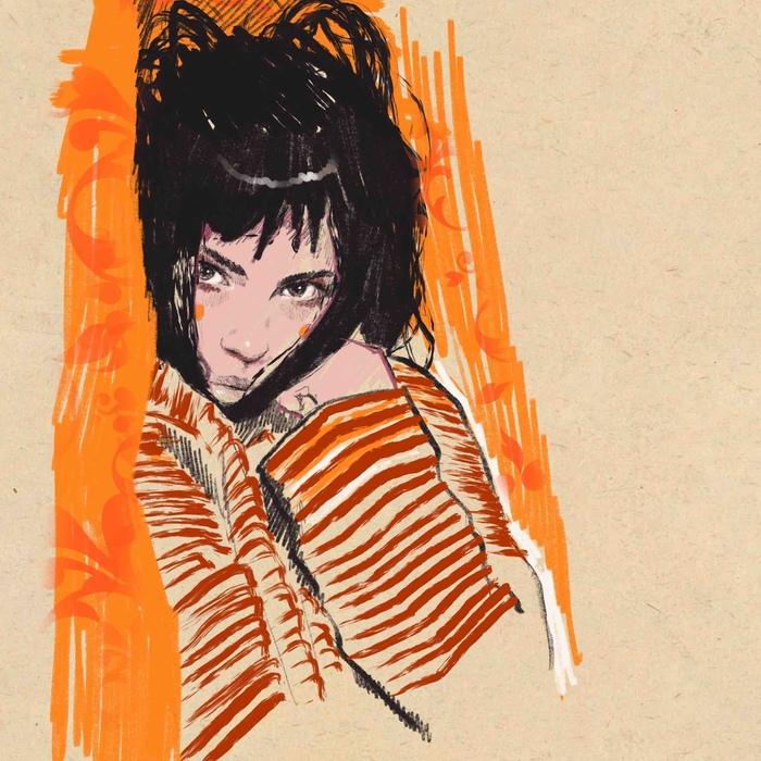 Study Арт, Рисунок, Ipad, Цифровой рисунок, Портрет, Девушки, Курение, Рисунок на планшете