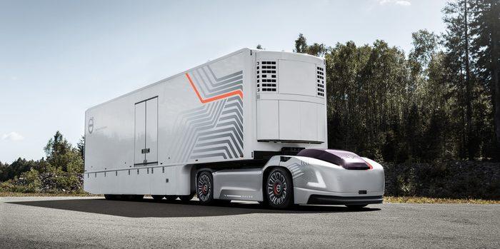 Volvo представила автономный электрогрузовик без кабины Volvo, Habrahabr, Электрогрузовик, Видео, Длиннопост