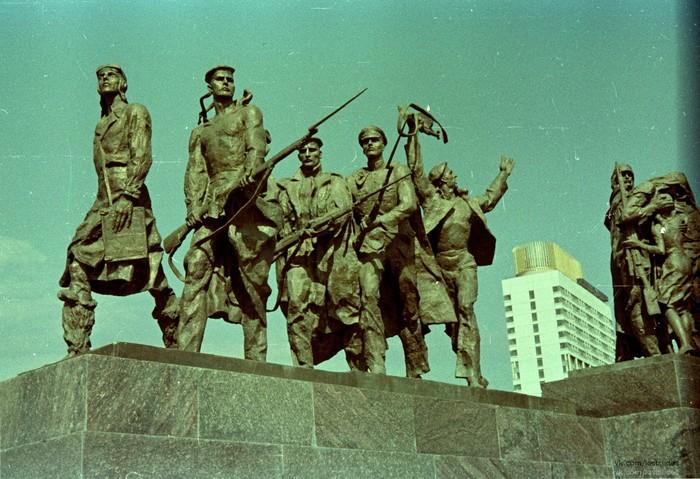 Ленинград, Площадь Победы, 1975 год Ленинград, История, Фотография, 1975, Lostslides, Длиннопост