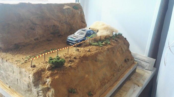 Диорама Диорама, Стендовый моделизм, Ралли, Subaru