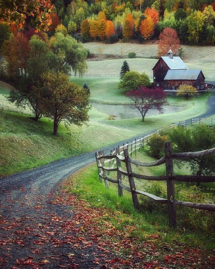 Осень в Вермонте, США.