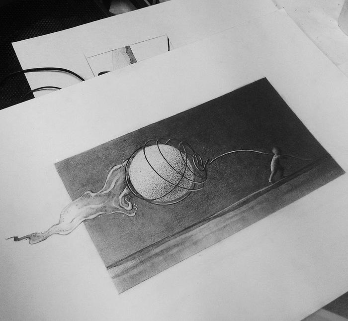 Несущий свет Арт, Рисунок, Рисунок карандашом, Искусство, Мальчик, Одиночество