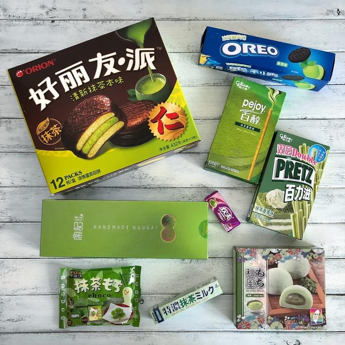 Азиатские сладости с зеленым чаем   Дегустация Китай, Длиннопост, Сладости, Oreo, Зеленый чай, Печенье