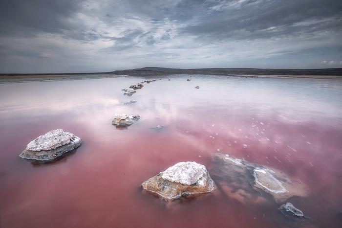 Розовая соль Кояша Кояшское, Озеро, Крым, Пейзаж, Природа, Длиннопост