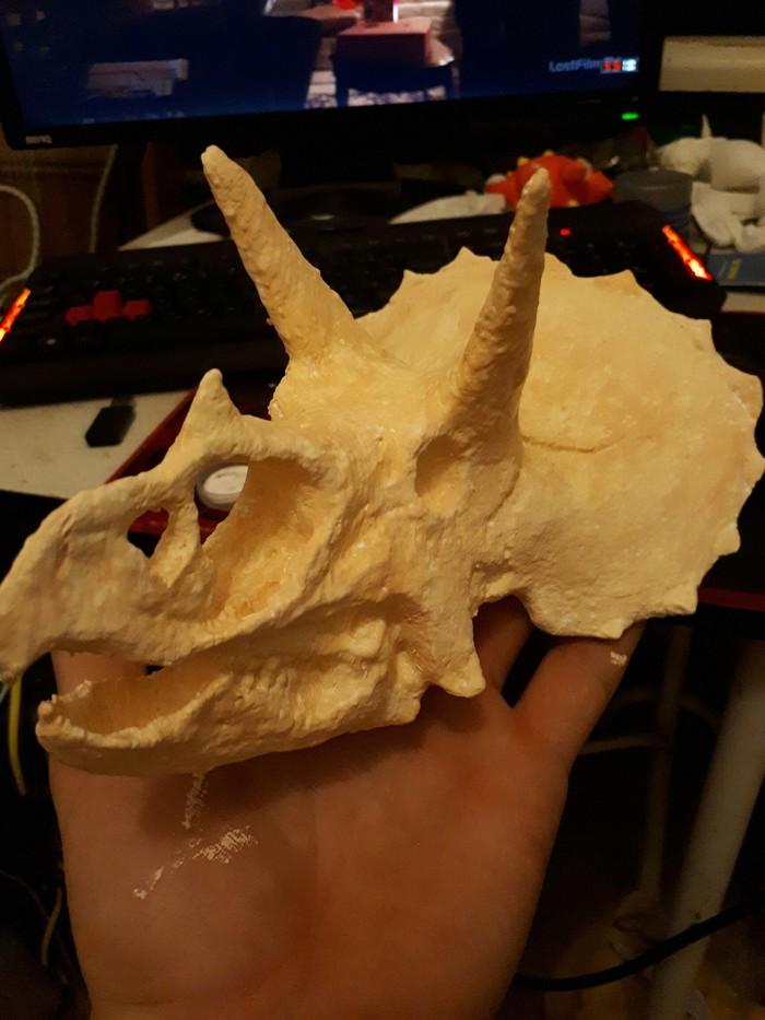 Трицератопс. Патинирование Трицератопс, Покрытие, Динозавры, Длиннопост