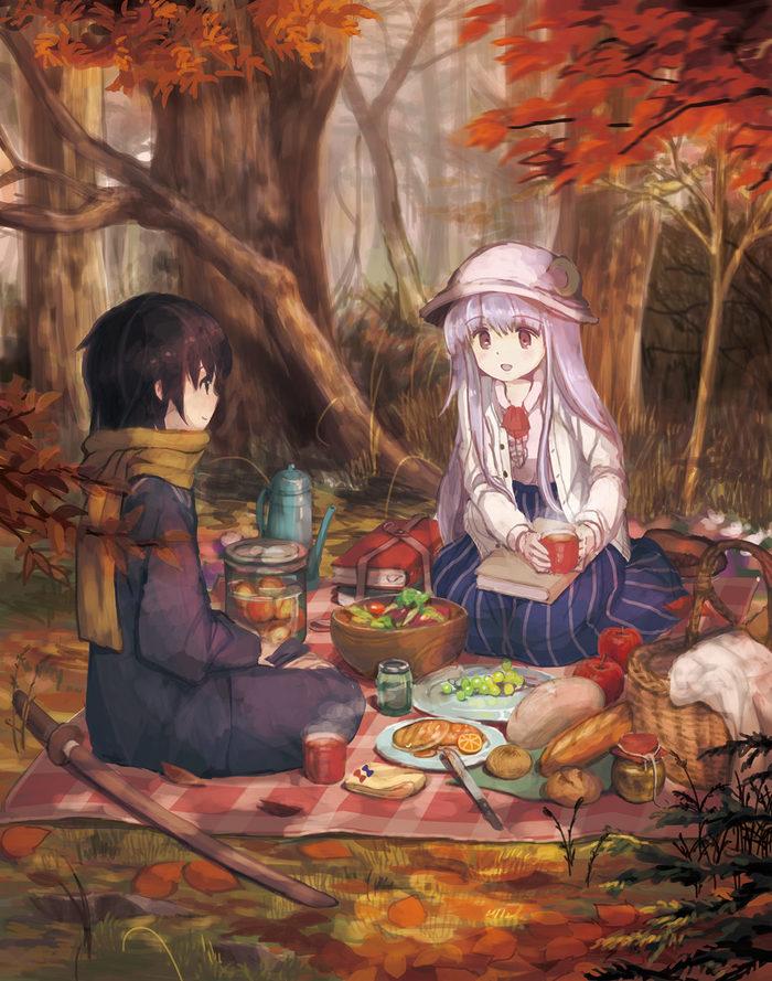 Пикник Аниме, Anime Art, Touhou, Patchouli Knowledge, Kouka mrakano5456, Пикник
