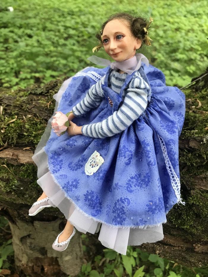 Портретная , стилизованная авторская кукла Авторская работа, Моё, Портретная кукла, Длиннопост