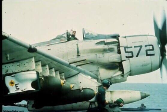 AD-4 Skyraider Фотография, Авиация, ВВС США, Война во вьетнаме