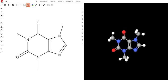 Молекулярный редактор Формулы, Химия, Молекулы, Графический редактор, Трехмерное моделирование