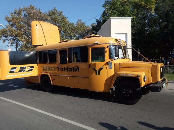 Самый обыкновенный школьный автобус Автобус, Автозвук