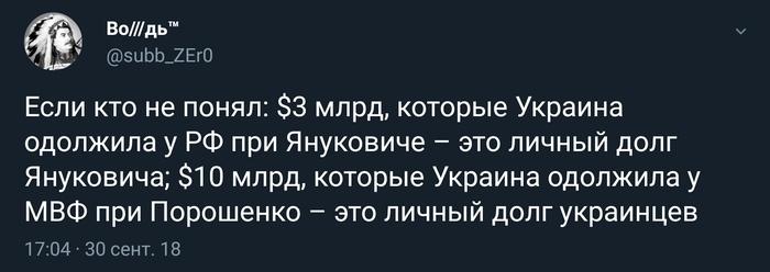 Личный долг Политика, Украина, Долг, Twitter