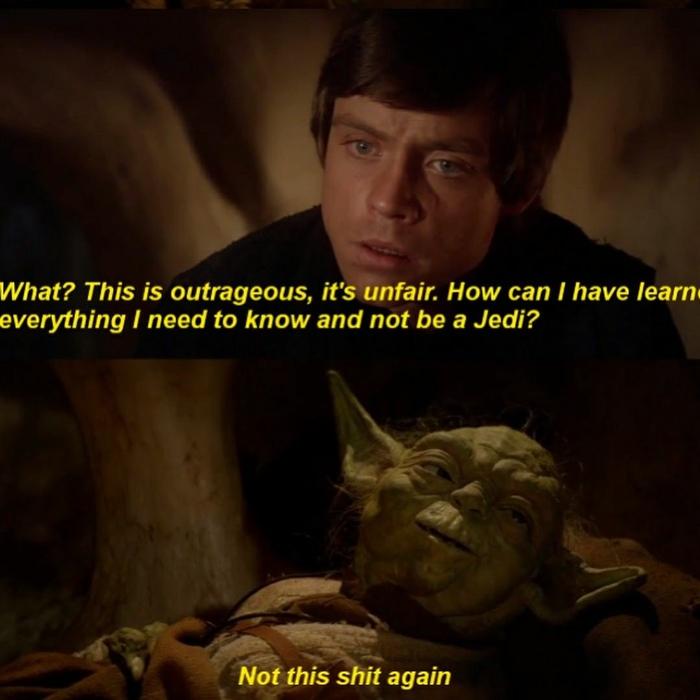 Только не это... Star Wars, Люк скайуокер, Йода