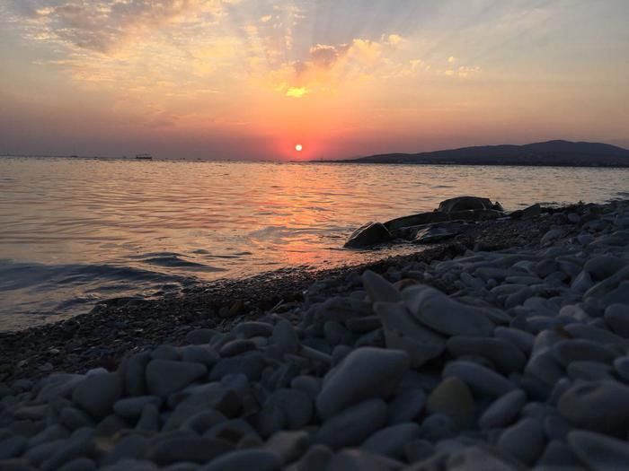 Закат Геленджик, Закат, Море, Пляж