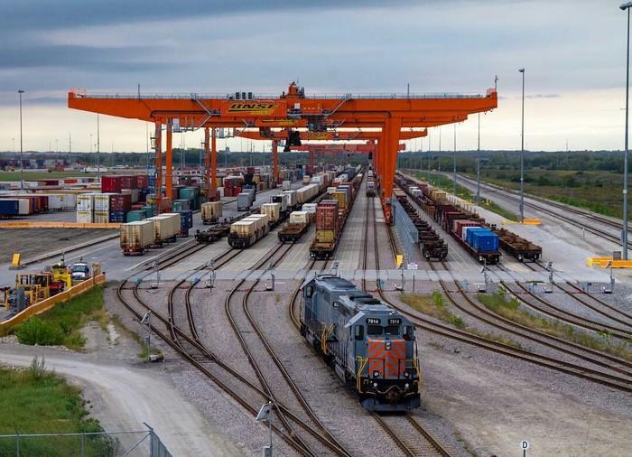 Логистический железнодорожный парк в Канзасе
