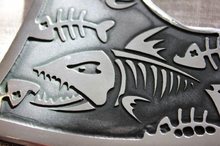 Топор своими руками на рыболовную тематику Моё, Своими руками, Длиннопост, Топор, Дизайн, Рукоделие, Процесс, Рыба