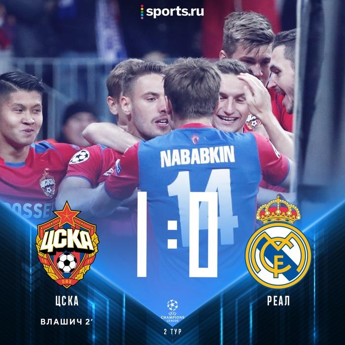 Ничего особенно, просто ЦСКА только что обыграл мадридский Реал Спорт, Футбол, Лига чемпионов, ЦСКА, Реал Мадрид, Гифка
