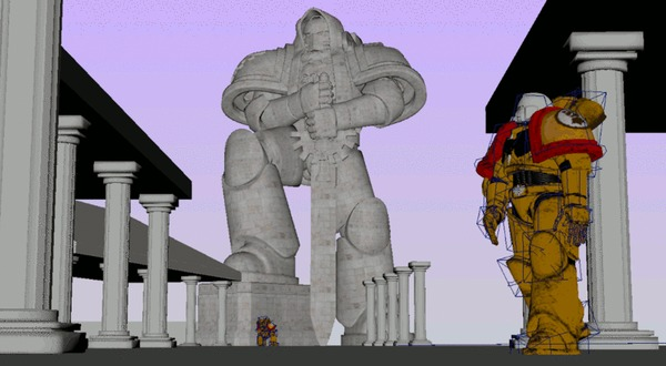 Richard Jan Postema Warhammer 40k, Wh Art, Imperial Fists, Ultramarines, Саламандра, Blood ravens, Гифка, Длиннопост