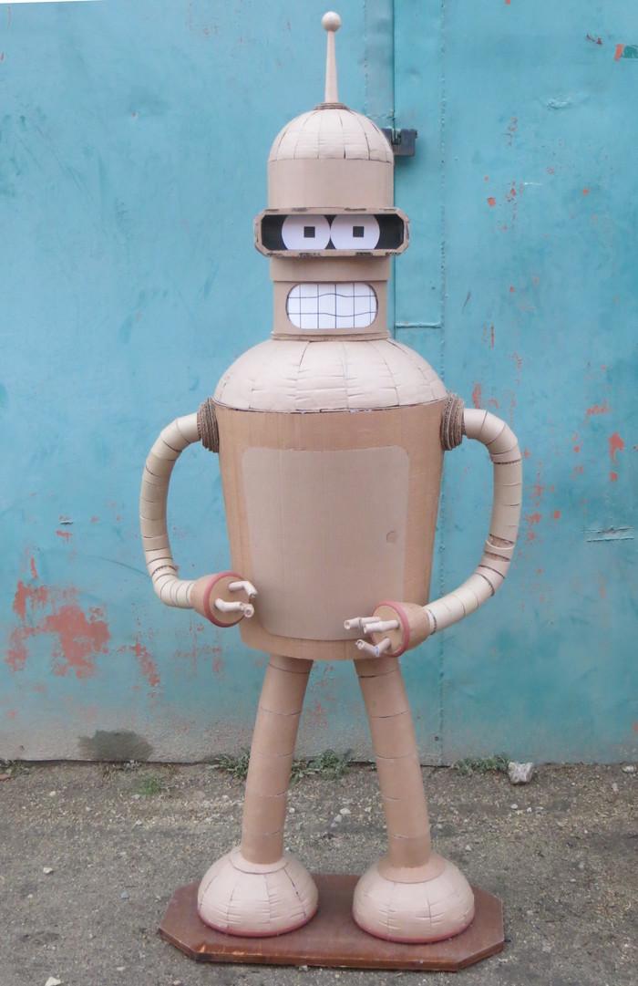Бендер из гофрокартона Бендер, Футурама, Картон, Скульптура, Скульптура из картона