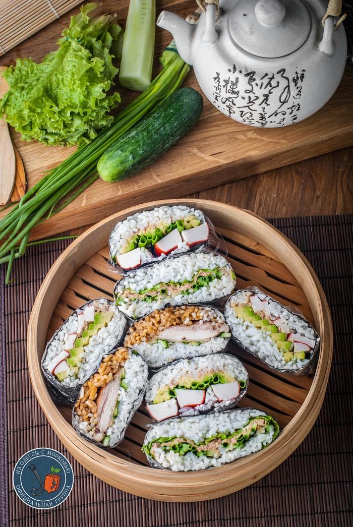 Онигирадзу(Onigirazu). Суши-сэндвич. Из Одессы с морковью, Кулинария, Еда, Рецепт, Длиннопост, Фотография, Япония