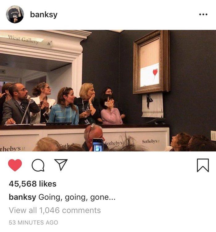 Тролль недосягаемого уровня Бэнкси, Картина, Аукцион, Тролль, Шредер