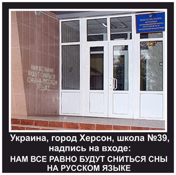 Про мову.... Украина, Херсон, Язык, Школа, Украинизация, Вандализм, Надпись на стене