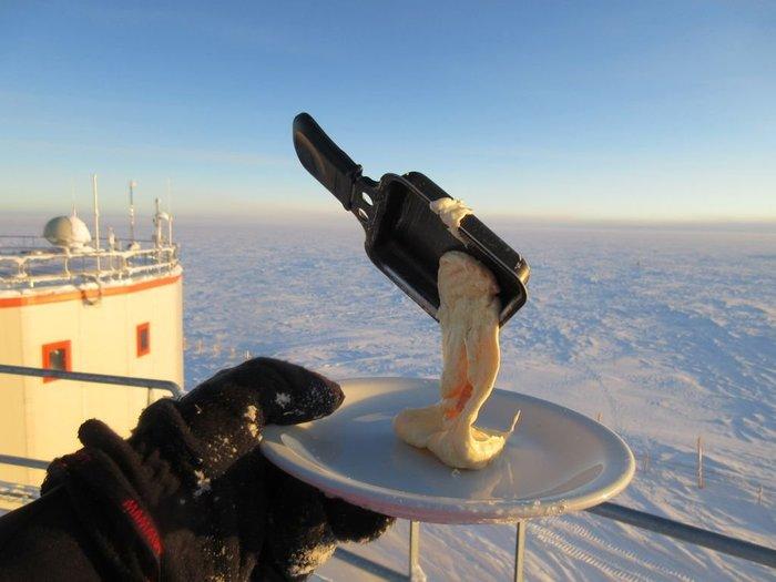Еда при -60°C Холод, Макароны, Еда, Фотография, Антарктика, Длиннопост