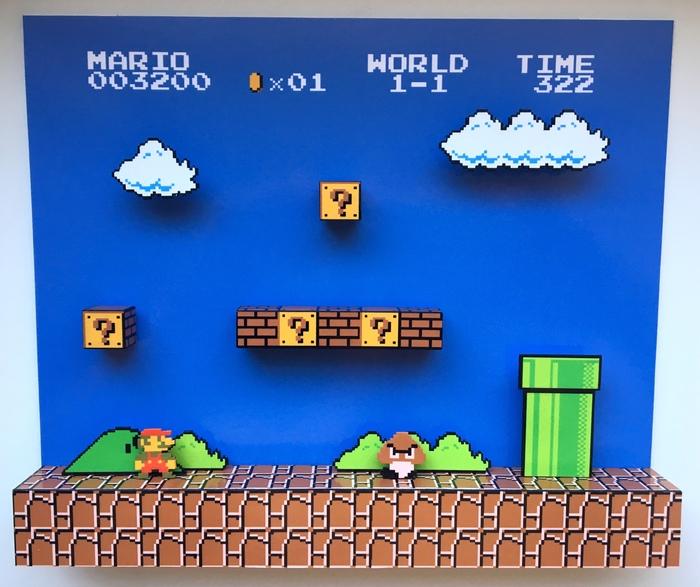 Диорама по Оригинальному Mario и Contra Своими руками, Ручная работа, Диорама, Пиксель, Pixel art, Dendy, Diorama, Homemade, Длиннопост