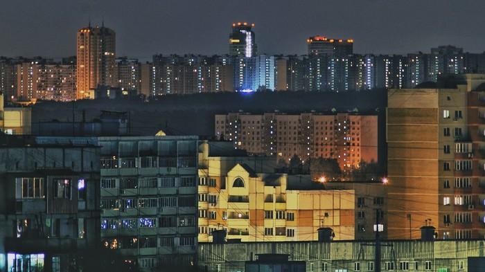 Городской пейзаж Город, Фотограф, Ночь, Лига фотографов, Длиннопост