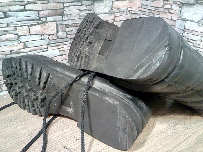 Типичный ремонт берцев. Ремонт обуви, Берцы, Формованная набойка, Моя интересная работа, Фотография, Длиннопост